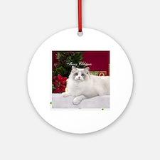 Ragdoll Cat Snowflake Ornament Round Ornament