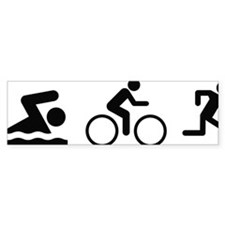 triathlon1A Bumper Sticker