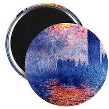 Monet Parliament In London Magnet
