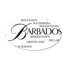 Barbados Cities Oval Car Magnet