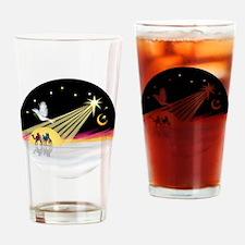 XmasDove - Drinking Glass