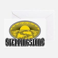 Stepping Stone 2 Color Logo Greeting Card