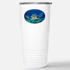 aquatic sea turtle Stainless Steel Travel Mug
