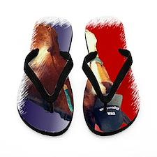 USA Equestrian Horse Flip Flops
