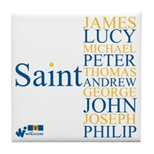 Barbados Parishes Tile Coaster