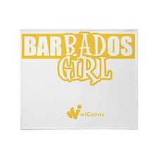 Barbados Bad Girl Throw Blanket