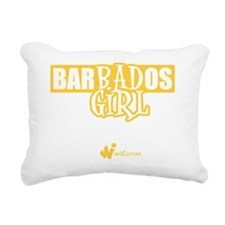 Barbados Bad Girl Rectangular Canvas Pillow