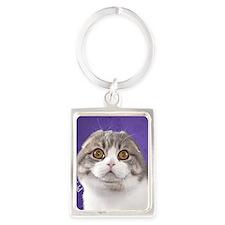 Scottish Fold Ornament Portrait Keychain