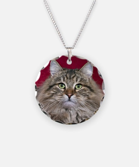 Siberian Cat Keepsake Orname Necklace