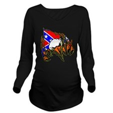 Eagle Tear Out w/ Re Long Sleeve Maternity T-Shirt