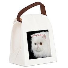 Persian Cat Ornament Canvas Lunch Bag