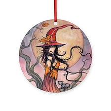 Autumn Magic Round Ornament