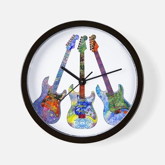 Wild Guitar Wall Clock