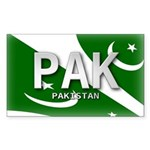 Pakistan Pride Rectangle Sticker