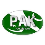 Pakistan Pride Oval Sticker