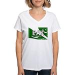 Pakistan Pride Women's V-Neck T-Shirt