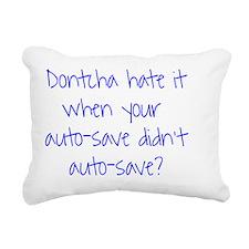 Auto Save Rectangular Canvas Pillow