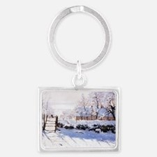 The Magpie Landscape Keychain