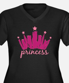 Princess Cro Women's Plus Size Dark V-Neck T-Shirt