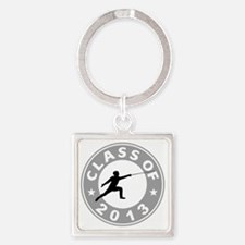 Class Of 2013 Fencing Square Keychain