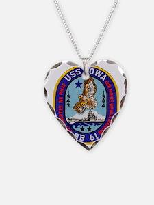 uss iowa patch transparent Necklace