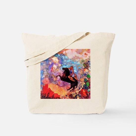 Odilon Redon Muse On Pegasus Tote Bag