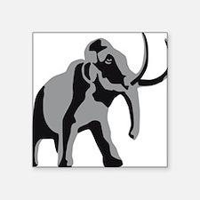 "mammoth Square Sticker 3"" x 3"""