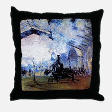 Station Saint Lazare in Paris Throw Pillow