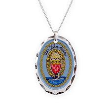 uss john adams patch transpare Necklace