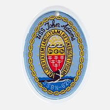 uss john adams patch transparent Oval Ornament