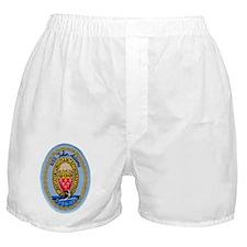 uss john adams patch transparent Boxer Shorts