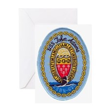 uss john adams patch transparent Greeting Card
