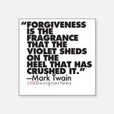 "Forgiveness Blk Square Sticker 3"" x 3"""