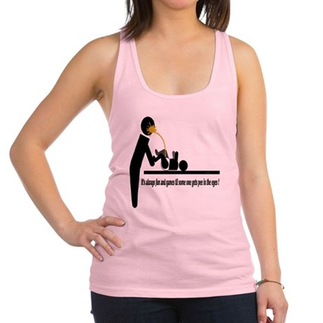 Its always fun and games til so Racerback Tank Top