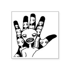"hand in hand Square Sticker 3"" x 3"""