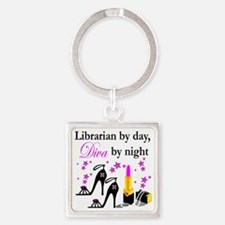 librarian 1 Square Keychain