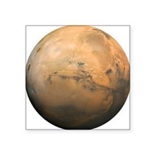 "Mars Valles Marineris Square Sticker 3"" x 3"""