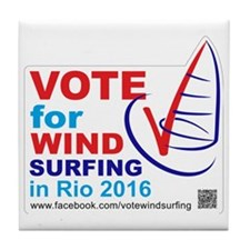 Vote for Windsurfing in Rio 2016 Tile Coaster