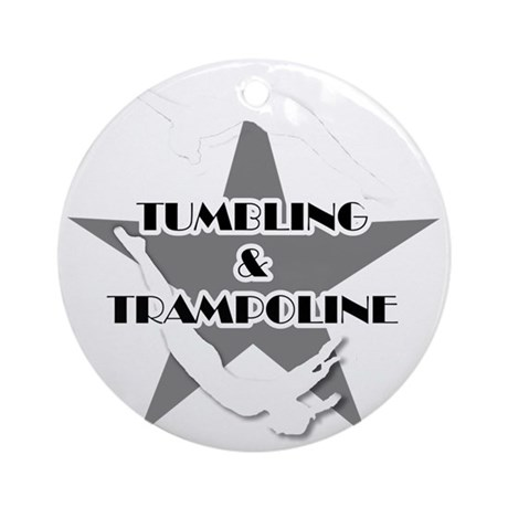 Tumbling and trampoline Round Ornament