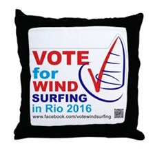 Vote for Windsurfing in Rio 2016 Throw Pillow