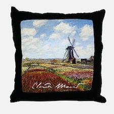Claude Monet Field Of Tulips Throw Pillow