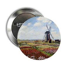 "Claude Monet Field Of Tulips 2.25"" Button"