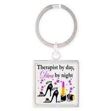 therapist 2 Square Keychain