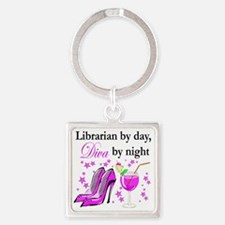 librarian 2 Square Keychain