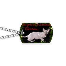 Sphynx Cat Christmas Card Dog Tags