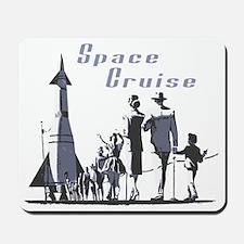 Space Cruise scifi vintage Mousepad