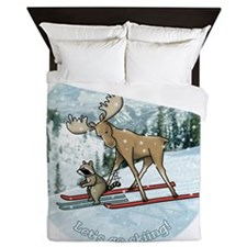 Lets go skiing! Queen Duvet