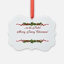 Sphynx Cat Christmas Card Ornament