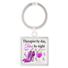 therapist 3 Square Keychain