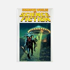 Unknown Worlds scifi vintage Rectangle Magnet